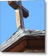 Cross Atop St. Malos Metal Print
