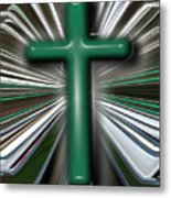 Cross Blast Metal Print