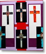 Cross Collage II Metal Print