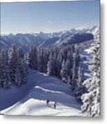 Cross-country Skiing In Aspen, Colorado Metal Print