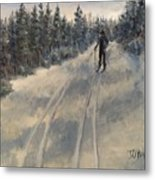 Cross Country Skiing  Metal Print