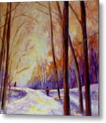 Cross Country Sking St. Agathe Quebec Metal Print