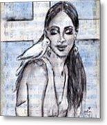 Cross Dove Metal Print