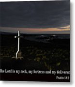 Cross In The Early Morning Metal Print