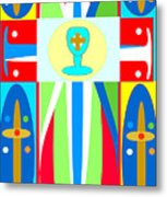 Cross Of Colors Metal Print