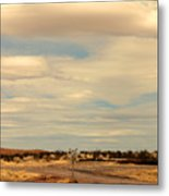 Cross Road In New Mexico Metal Print