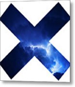 Cross Storm Metal Print