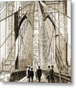 Cross That Bridge Vintage Photo Art Metal Print