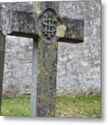 Cross Tombstone St. Mary's Wedmore Metal Print