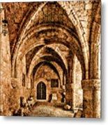 Rhodes, Greece - Cross Vault Metal Print