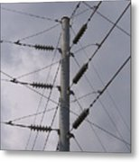 Crossed Wires Metal Print