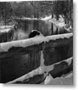Crossing Cedar Creek Metal Print