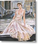 Crossing The Canal Metal Print