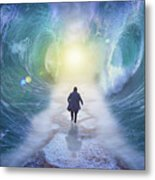 Crossing The Red Sea  Metal Print