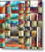 Crossover Abstract Pencil Metal Print