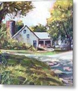 Crossroads Farmhouse Metal Print