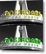 Crossroads Panorama Metal Print