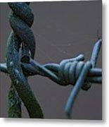Crosswired Metal Print