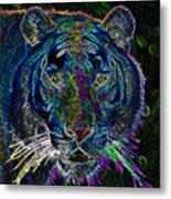 Crouching Tiger Metal Print