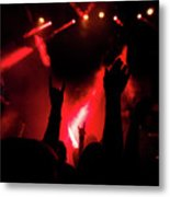 Crowd At A Rock Concert Metal Print