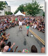Crowd At Bele Chere Festival Metal Print