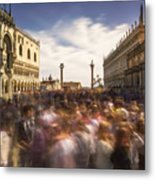 Crowded On St. Mark's Square Metal Print