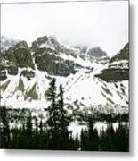 Crowfoot Mountain At Bow Lake Metal Print