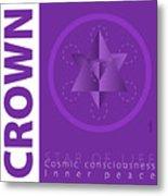 Crown Chakra Series Three Metal Print