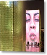 Crown Fountain At Millennium Park Metal Print