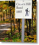 Crown Hill Road 1885 Metal Print