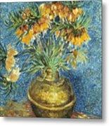 Crown Imperial Fritillaries In A Copper Vase Metal Print