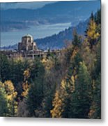 Crown Point In The Fall Metal Print