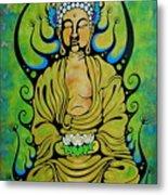 Crowned Buddha Metal Print