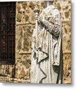 Crowned Statue - Toledo Spain Metal Print