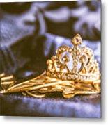 Crowned Tiara Jewellery Metal Print