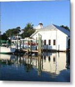Crowninshield Boat House Metal Print