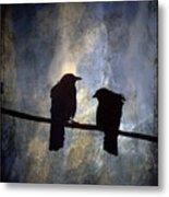 Crows And Sky Metal Print