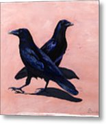 Crows Metal Print