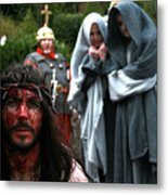 Crucification Metal Print