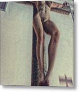Crucified In The Street Metal Print