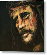 Crucified Jesus Metal Print