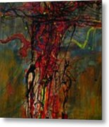 Crucified Metal Print