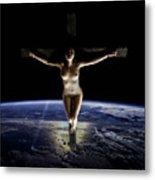 Crucified Tellus Metal Print