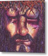 Crucifixion. Master Fully Done Metal Print by Jean-Marie Poisson