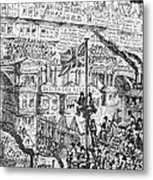 Cruikshank: London, 1851 Metal Print