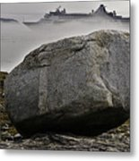 Cruise Ship Aground In Fog Metal Print