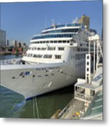 Cruise Ship At Canada Place Metal Print