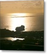 Cruise Ship At Sunset Metal Print
