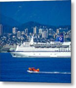 Cruise Ship In Vancouver Metal Print