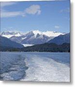 Cruise Ship Mountains Metal Print